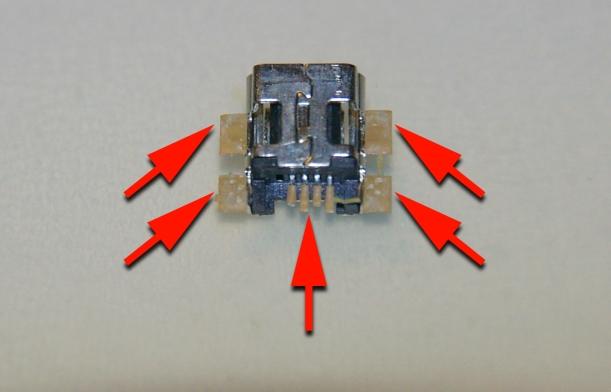 Conector arrancado