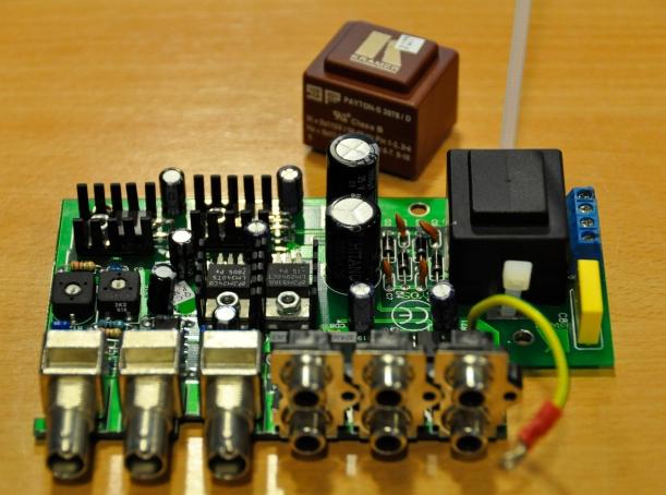 Circuitería con el transformador substituido