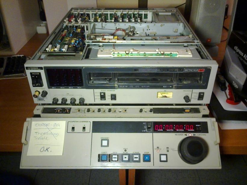 VTR Betacam SP abierto