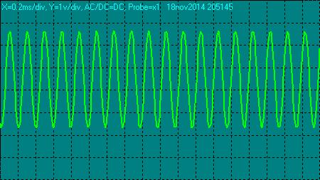 Señal del oscilador del microprocesador