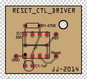 Diseño de la placa de Reset