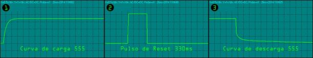 Oscilogramas del 555 en funcionamiento