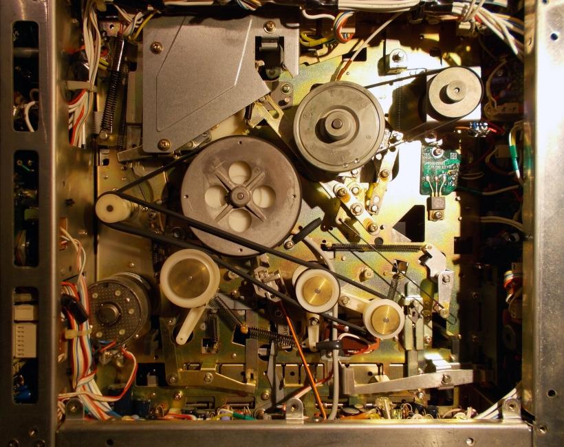 Vista inferior del chasis del HR-4100