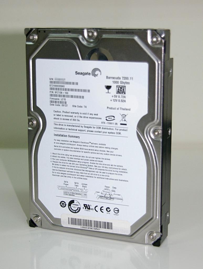 Seagate Barracuda ST31000333AS - 7200.11