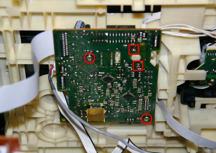 Extracción del controlador de CD