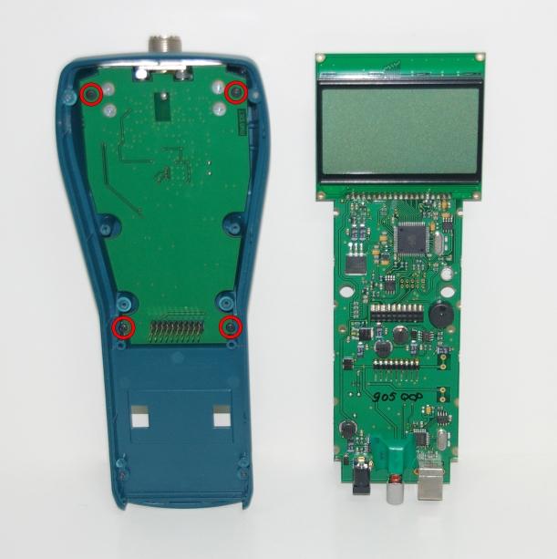 Desmontaje de la placa amplificadora