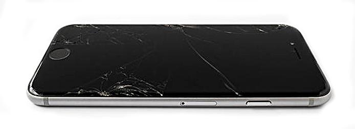Broken Apple iPhone 6 with cracked screen