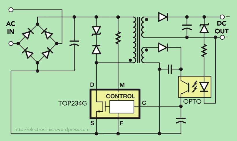 Circuito típico con TOP234G