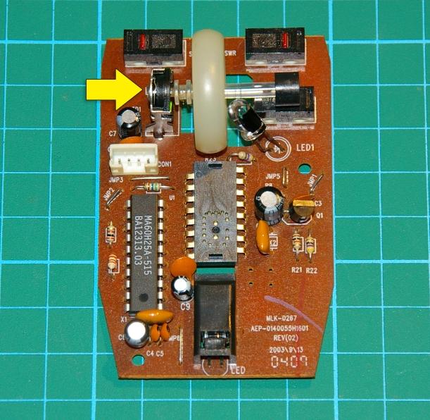 Placa de circuito impreso del ratón
