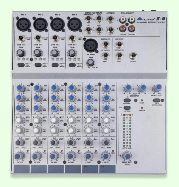 Mezclador de audio Alto S-8