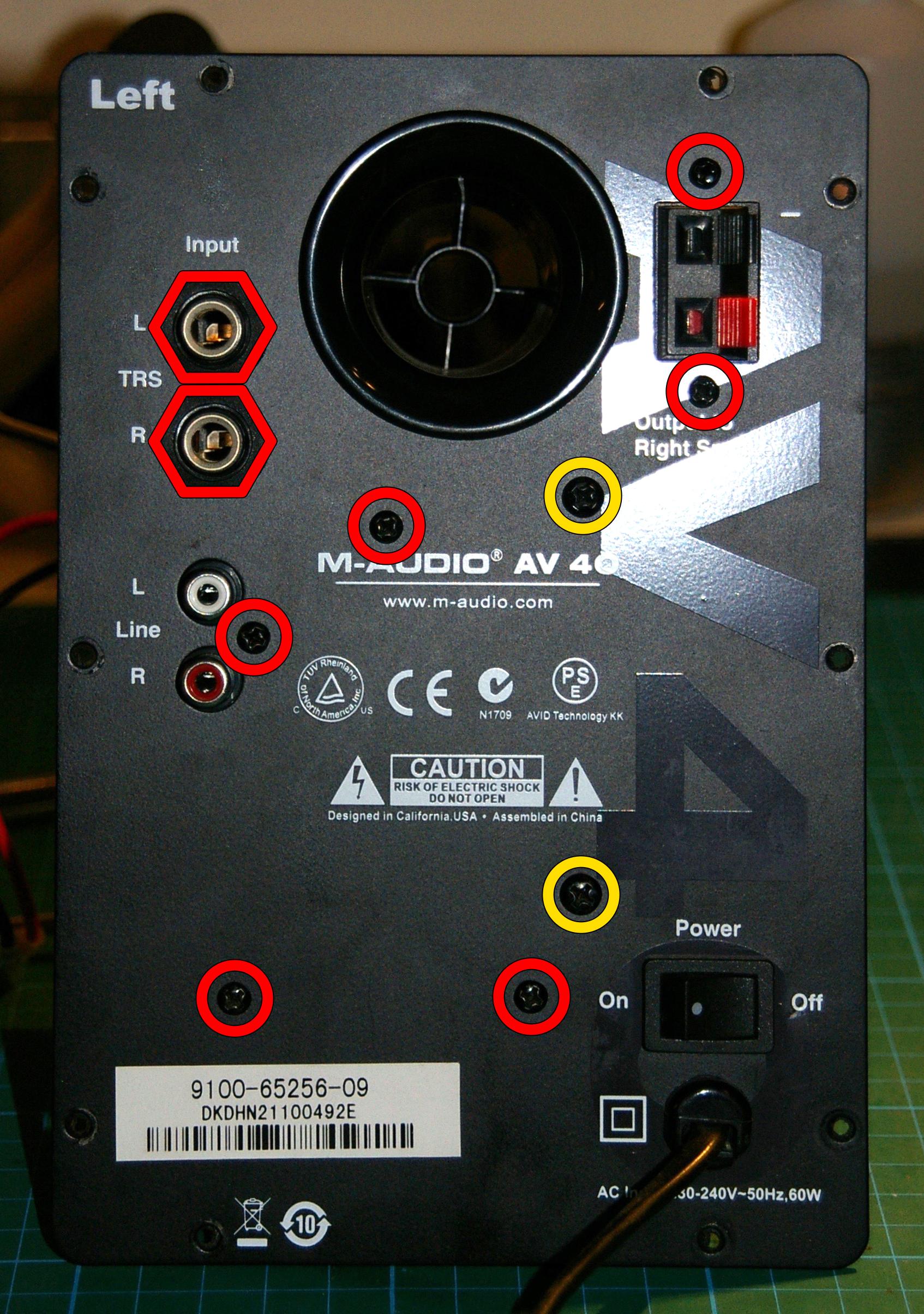 Rojo: desmontaje del circuito / Amarillo: desmontaje del transformador