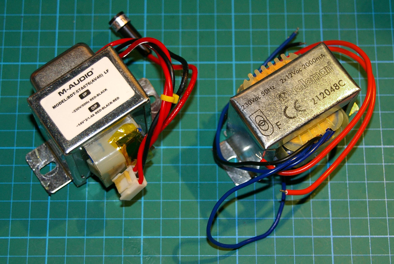 Transformador original y el recambio elegido