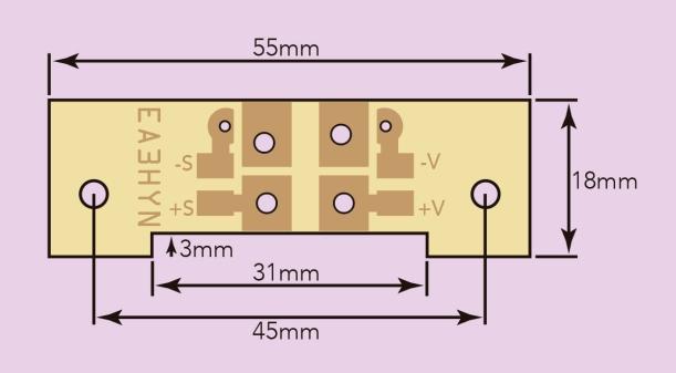 Diseño a medida de la placa externa de conexiones