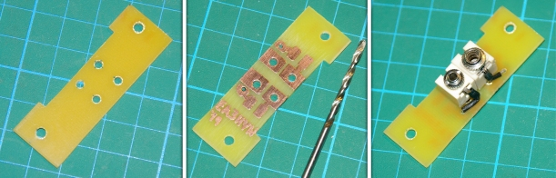 Fabricación de la placa externa de conexiones