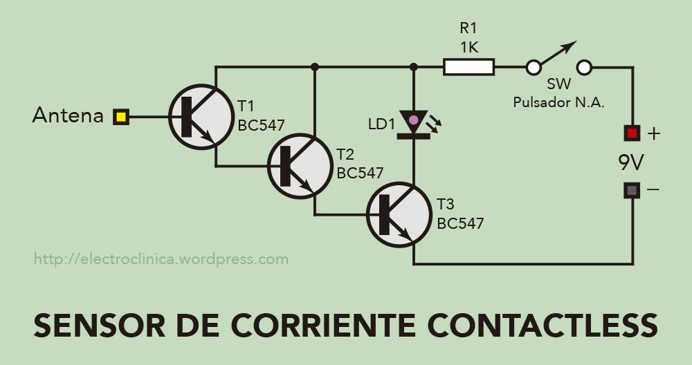 Esquema del detector de corriente