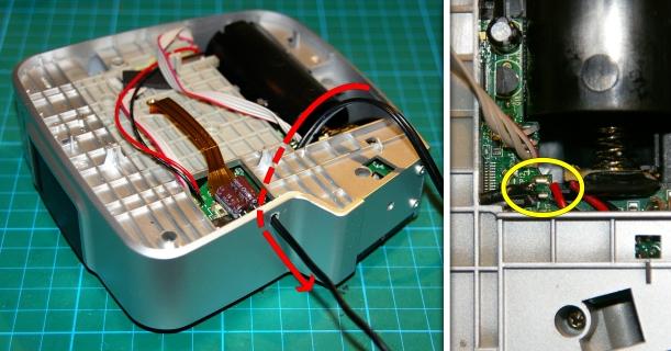 Instalación del cable para la batería externa